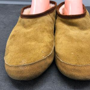 Acorn Shoes - Acorn Men's Olive Suede slippers Size 10.5-11